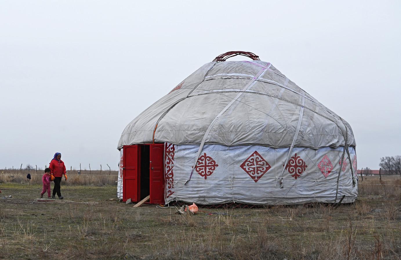 Foto ter illustratie: voorbeeld van een yurt.