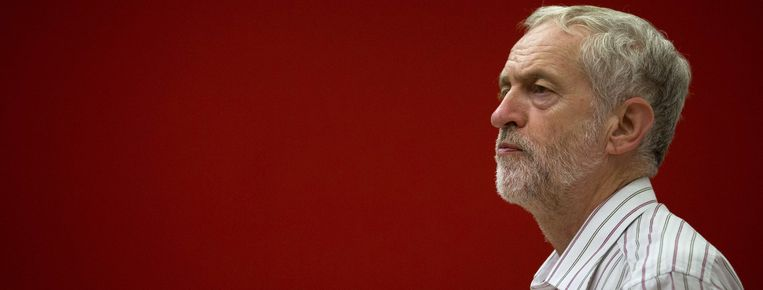 Jeremy Corbyn, kandidaat-voorzitter van Labour. Beeld AFP