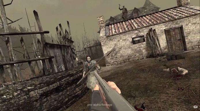 Het perspectief van 'Resident Evil 4 VR' ging natuurlijk naar 'first person'.