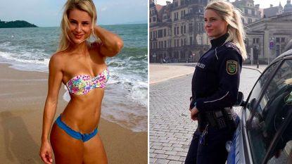 'Mooiste agente van Duitsland' moet kiezen tussen carrière als model of job bij politie