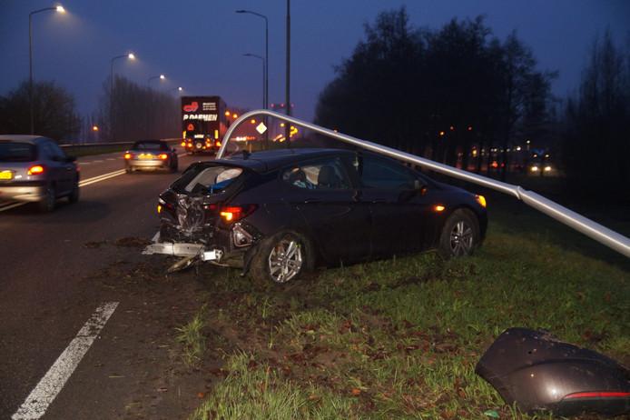 Het ongeval aan de Provincialeweg in Heesbeen.