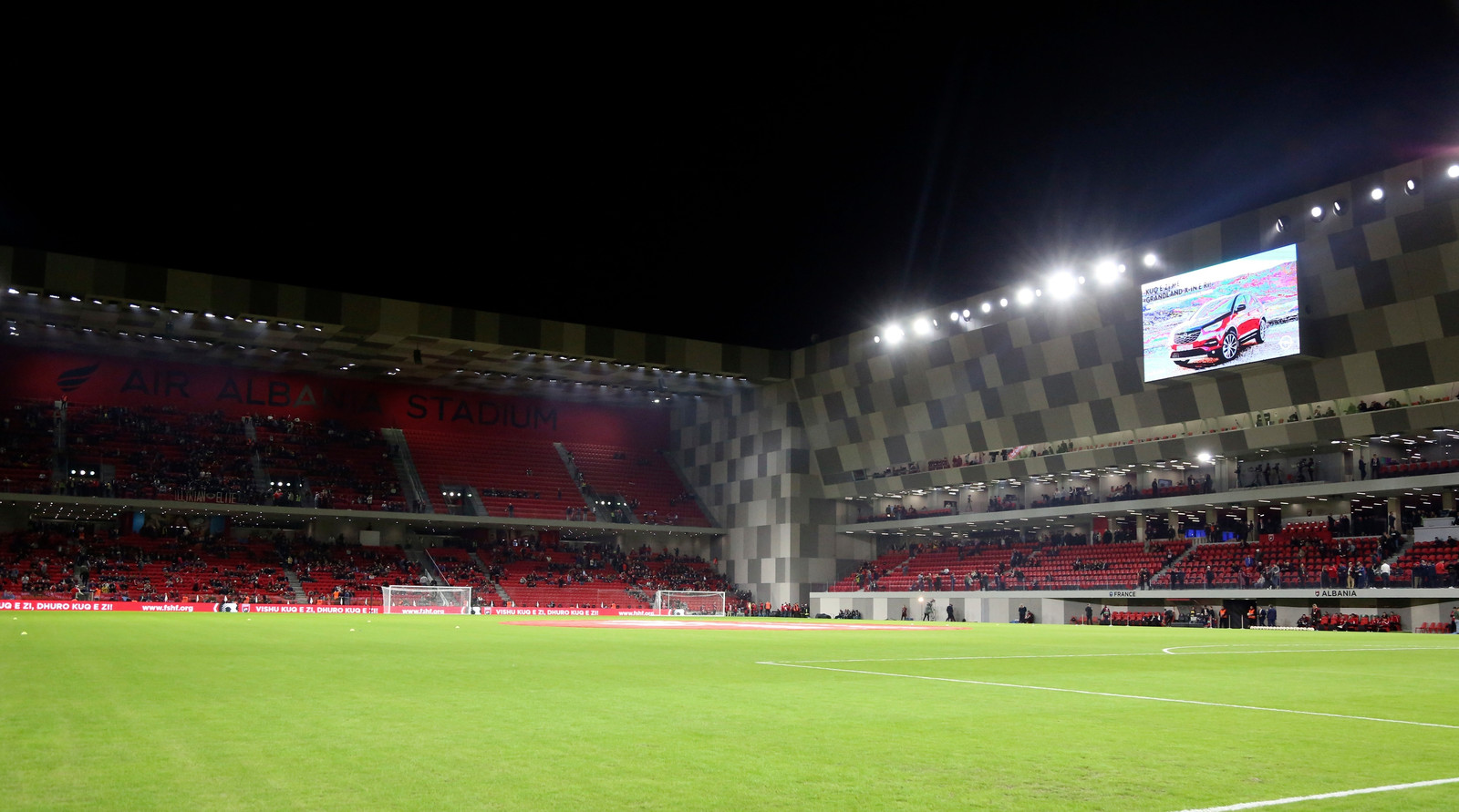 Arena Kombetare, de plek waar de finale plaats vindt.