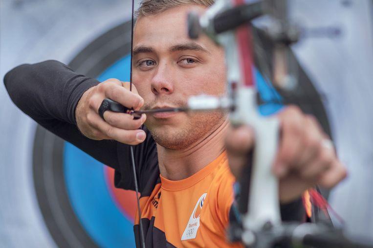 Steve Wijler, de Nederlandse boogschutter die in Tokio deelneemt aan recurve evenementen voor mannen. Beeld Patrick Post