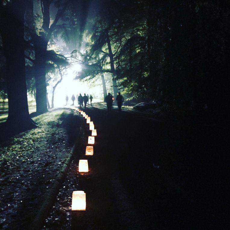Lichtjes tijdens Levensloop Aalst.