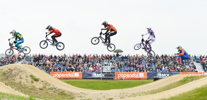 De Supercross op Papendal.