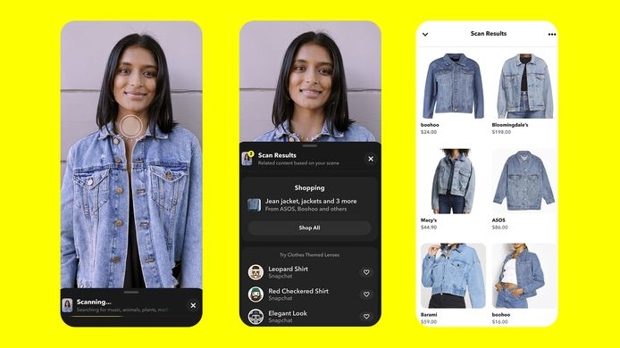 De kledingstijl van vrienden overnemen wordt eenvoudiger met een nieuwe update van Snapchat.