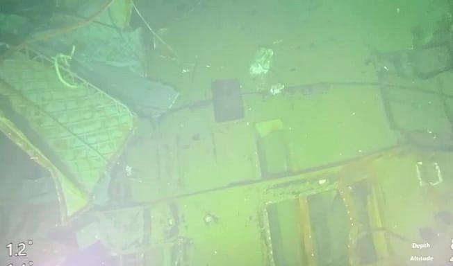 Een foto van de gezonken onderzeeër.
