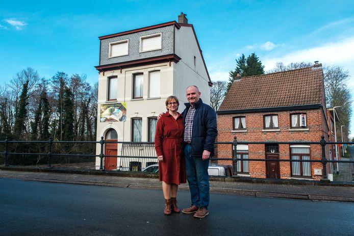 Kris Mampaey en Ilse Selderslaghs van B&B Boekenhof in Niel.