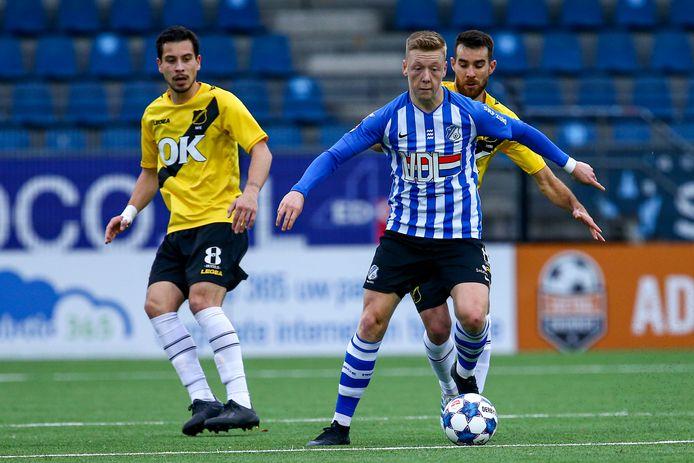 Brian De Keersmaecker in actie voor FC Eindhoven.
