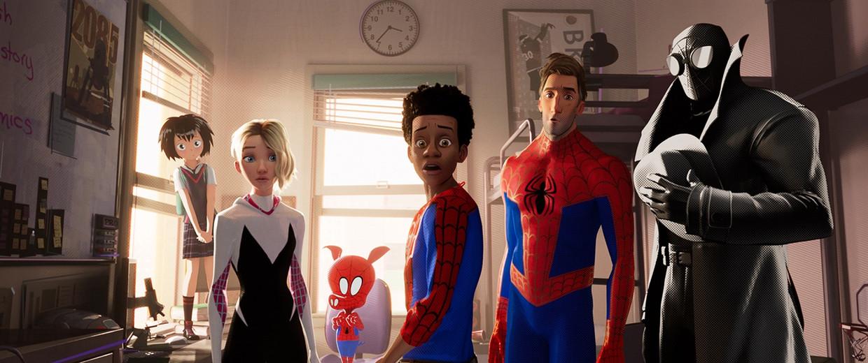 Beeld uit de film 'Spider-Man: Into the Spider Verse'. De sequel vindt u wellicht op Bravia Core, een nieuwe streamingdienst die Sony zopas presenteerde. Beeld Sony