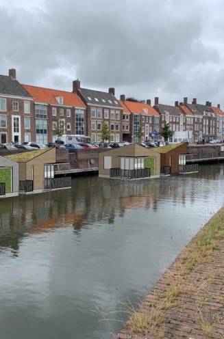 Slim idee of kansloos: drijvende lodges in de gracht van Middelburg