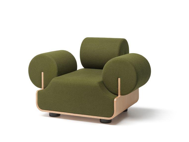 De 'MVPHE'-fauteuil van Piet Hein Eek. Beeld