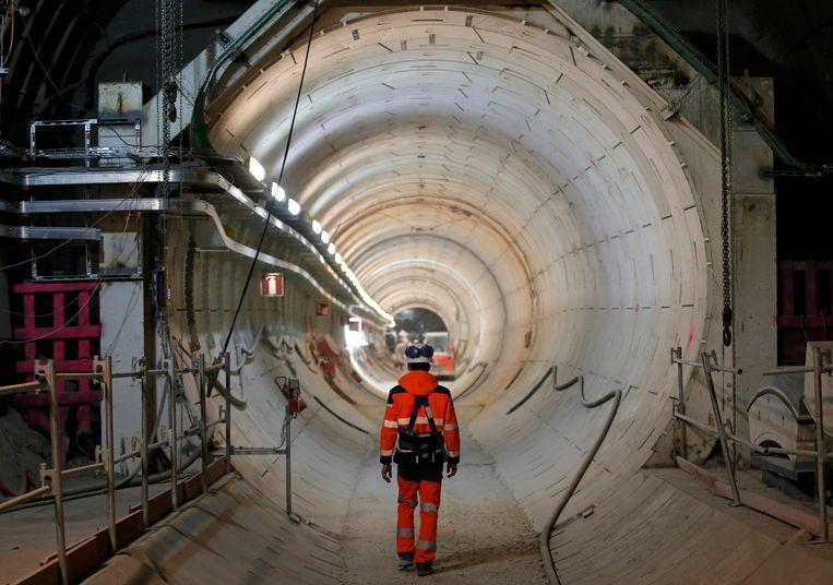 Het laboratorium voor ondergrondse opslag van kernafval in Bure, Frankrijk. Beeld Reuters