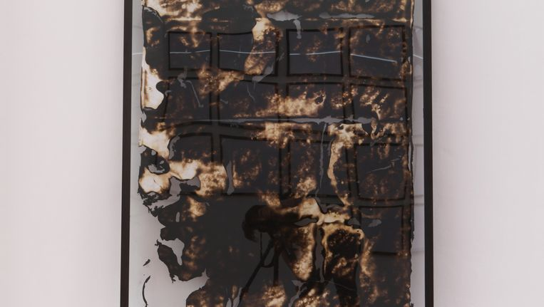 Werk uit Thomas Kuijpers' tentoonstelling Paradigma II. Beeld