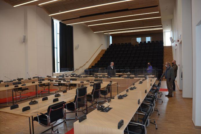 De raadzaal met auditorium kan ook voor andere gelegenheden worden gebruikt.