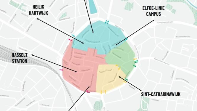 OVERZICHT. Hele binnenstad Hasselt vanaf volgende zomer zone 20. Zo rij je in de stad het vlotst rond