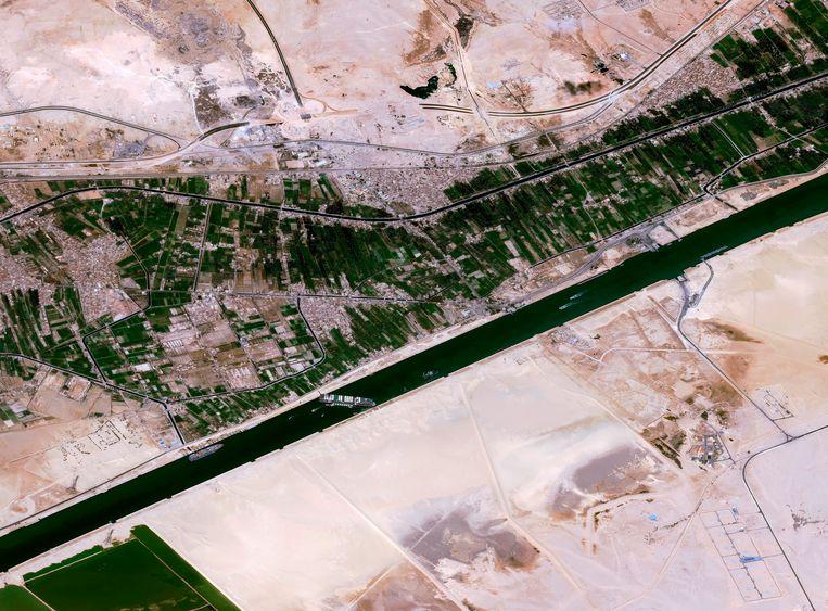 Een satellietbeeld van Cnes2021, Distribution Airbus DS. Beeld AP