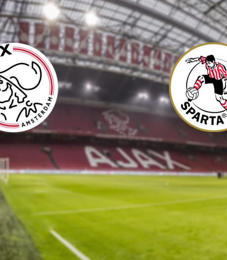 LIVE | Ajax met nieuwe aanwinst Babel in de basis tegen Sparta