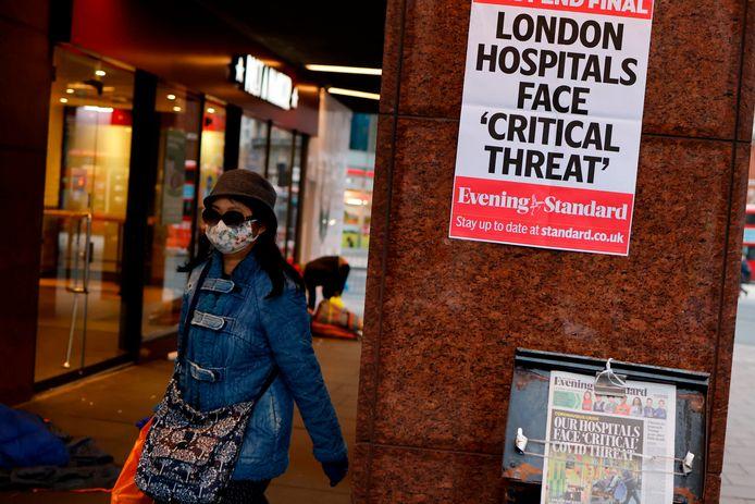 Straatbeeld uit Londen, waar een strenge lockdown van kracht is.