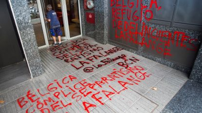Belgisch consulaat in Barcelona gevandaliseerd