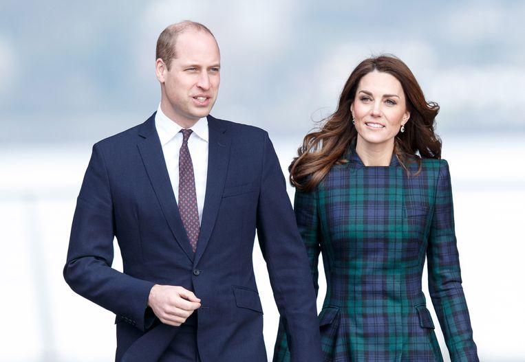 Prins William en zijn echtgenoot Kate Middleton. Beeld EPA