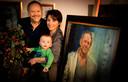 Met echtgenote Jet en zoon Julius in 2012.