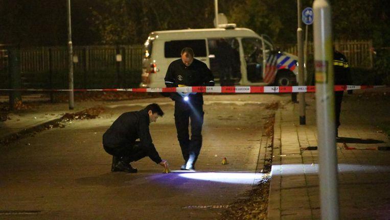 Politie-onderzoek na de liquidatie van Eaneas Lomp in Krommenie. Beeld anp