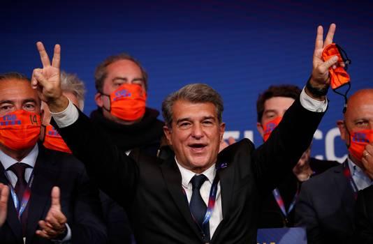 Joan Laporta, nadat hij begin maart terugkeerde als voorzitter van FC Barcelona.