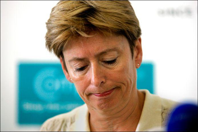 Archieffoto van Guusje ter Horst, destijds burgemeester van Nijmegen. Zij noemde de verkiezingen altijd 'het feest van de democratie', weet Rob Jaspers.