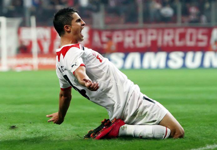 Ook bij Olympiakos maakte Miralles het al te bont.