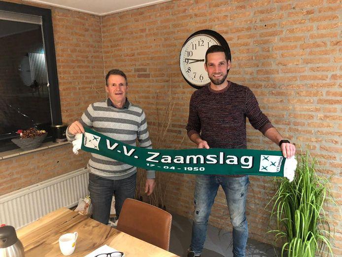 Bart Corstanje (rechts) keerde in november 2019 terug bij voetbalvereniging Zaamslag.