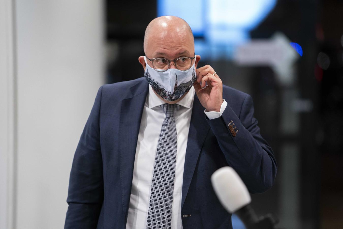 Jack Mikkers, voorzitter van de Veiligheidsregio Brabant-Noord (hier tijdens een eerder Veiligheidsberaad), was één van de pleitbezorgers van een quarantaineplicht.  ANP JEROEN JUMELET