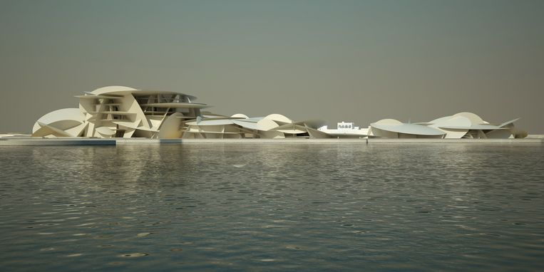 Het Nationaal Museum in Qatar moet de thuis worden van topwerken, maar die moeten nog aangekocht worden. Beeld rv