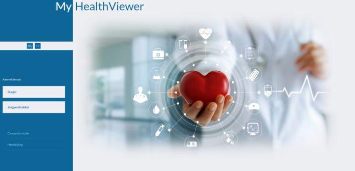 Het platform MyHealthViewer kon het hoge aantal gebruikers vanmorgen niet aan.