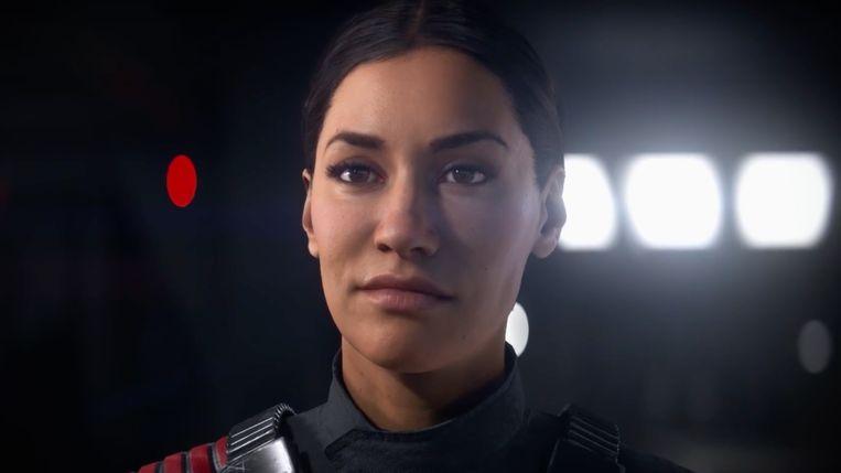 Actrice Janina Gavankar vertolkt Iden Versio, voor de verandering een heldin die aan de zijde van het vileine galactische keizerrijk strijdt. Beeld Electronic Arts