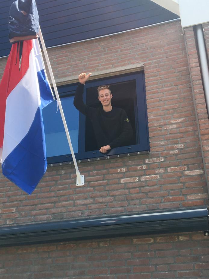 Kevin van Dam (15) uit Rotterdam-Hoogvliet.
