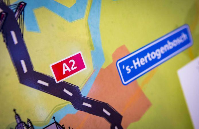 Weggebruikers in de richting van 's Hertogenbosch moeten rekening houden met omleidingen en een extra reistijd die kan oplopen tot een half uur.