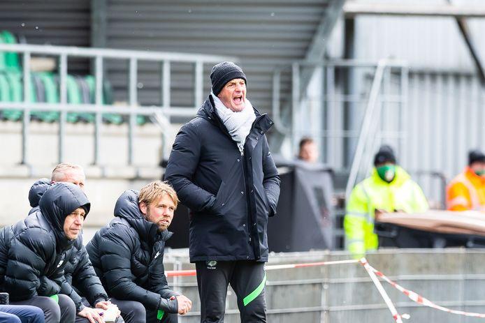 Ernie Brandts in actie als hoofdtrainer van FC Eindhoven