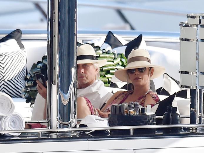 Michael Douglas et Catherine Zeta Jones à Portofino le 30 juillet.