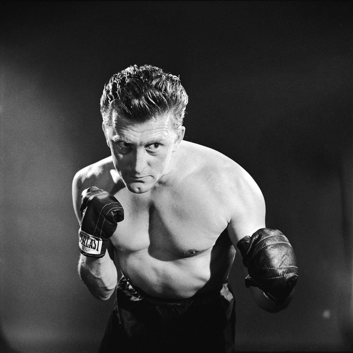 Kirk Douglas in 'Champion', zijn doorbraak, in 1949.