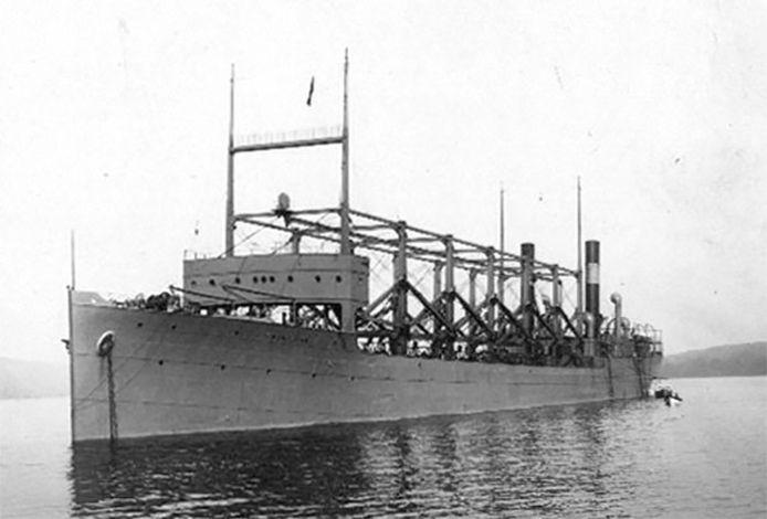 De USS Cyclops verdween samen met 300 opvarenden van de aardbol in 1918.