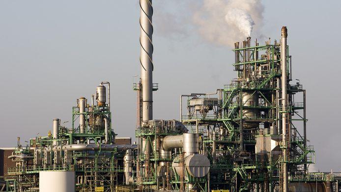 Chemische industrie in het Botlek gebied.