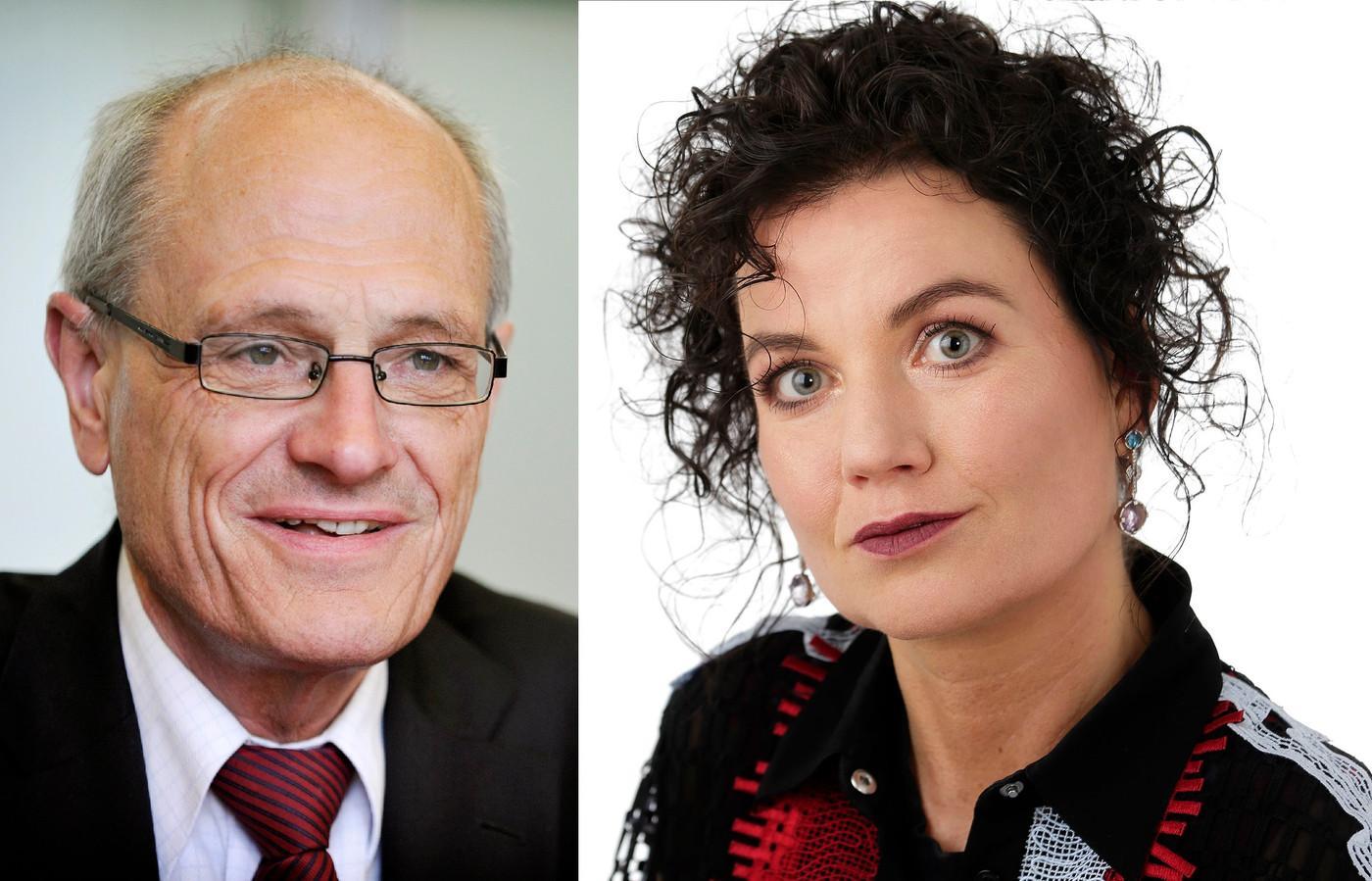 Gerard Sanderink (links) en Rian van Rijbroek (rechts).