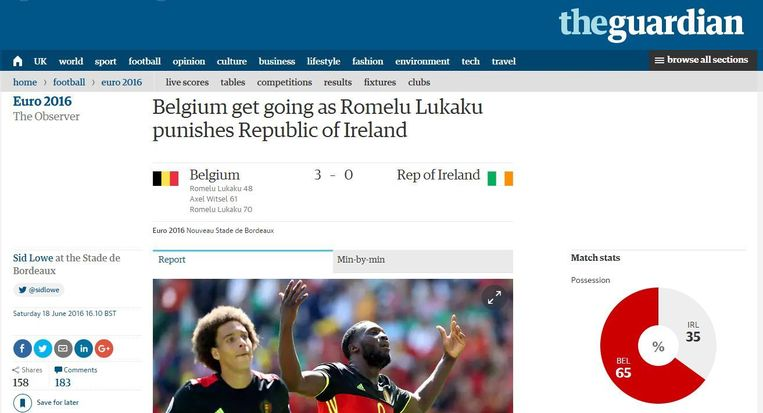 The Guardian. Beeld kos