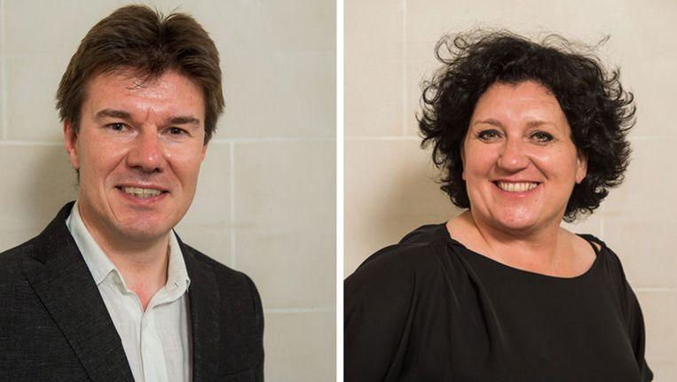 Sven Gatz en Annemie Turtelboom, de Open Vld-ministers in de Vlaamse regering. Beeld Belga