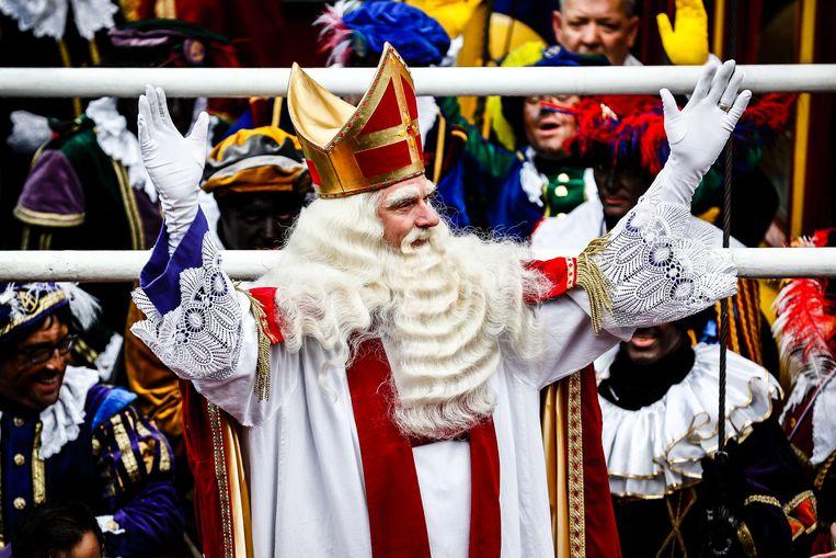 Sinterklaas tijdens diens intrede in Dokkum. Beeld ANP