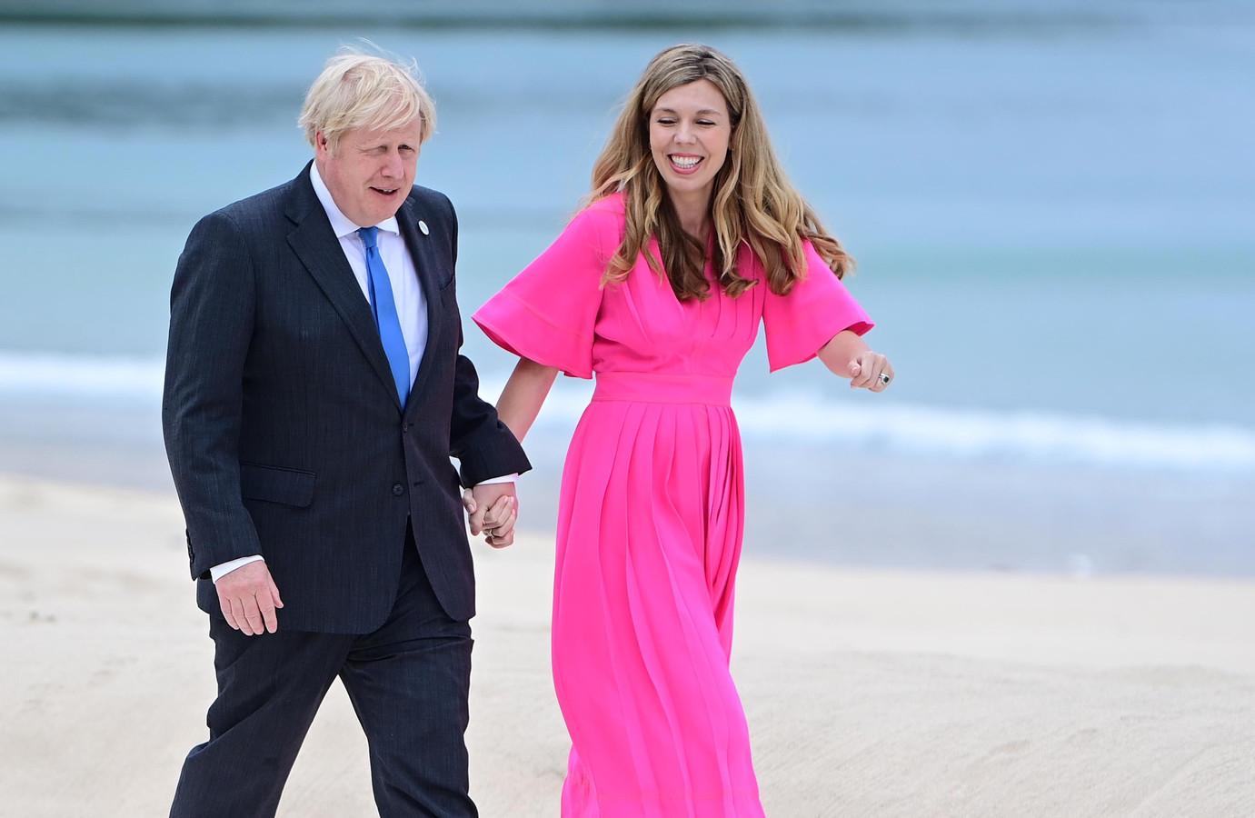 Boris Johnson en zijn vrouw Carrie.