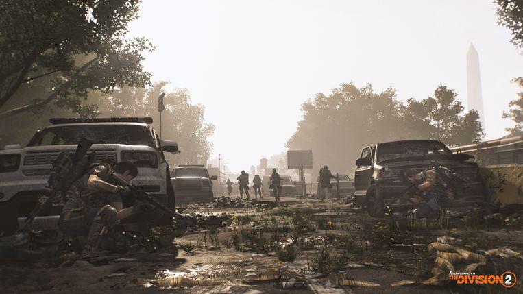 De natuur heeft zich weer meester gemaakt van de stad in 'The Division 2'. Net als zwaarbewapende roverbendes. Beeld Ubisoft