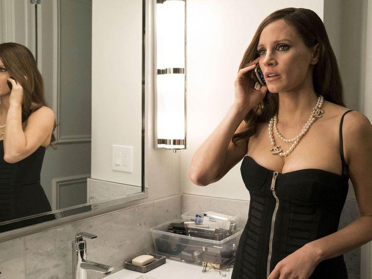 Jessica Chastain in Molly's Game van Aaron Sorkin. Beeld