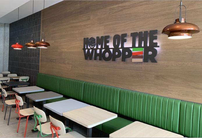 Het Royal-decor van Burger King in Ninove.
